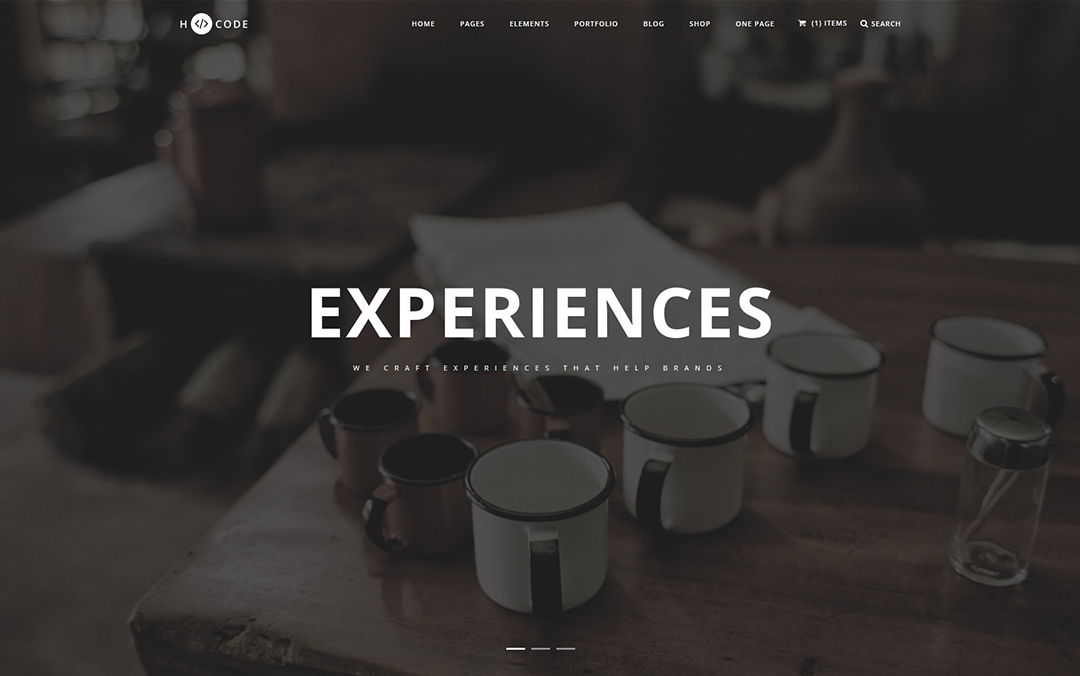 one page responsive template