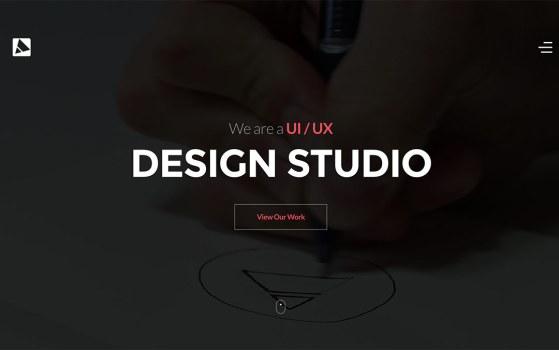 drawingart one page portfolio website