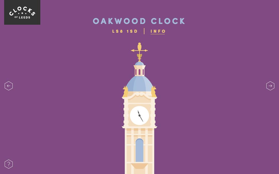 single page clock website