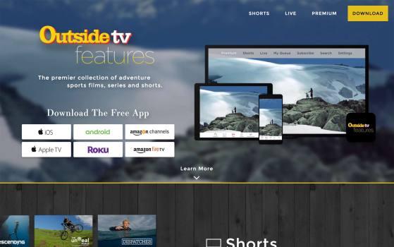 one page landing website for outsidetv