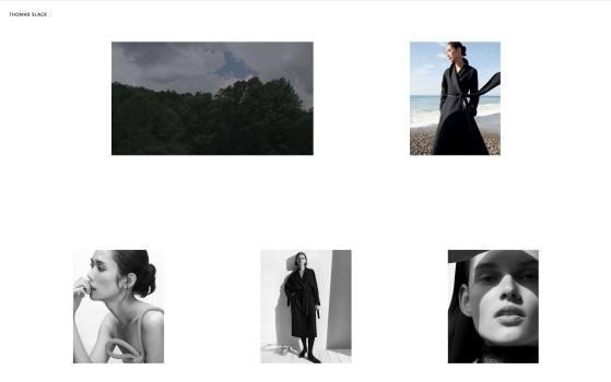 Thomas Slack one page photography website