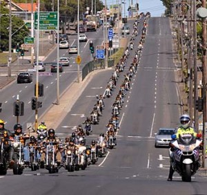one percenter bikers and police
