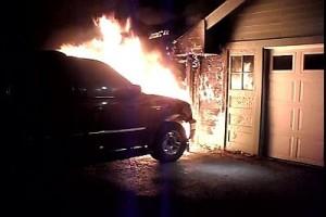 Free Souls MC SUV Fire