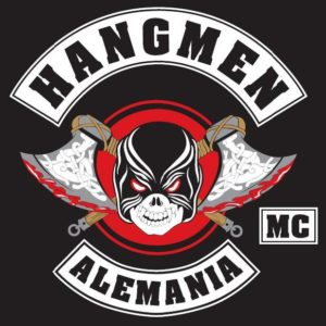 Hangmen MC Germany patch logo black white