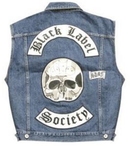 Satans Slaves MC Black Label Society Vest