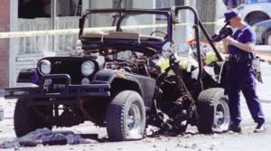Quebec Biker Wars Jeep Bomb