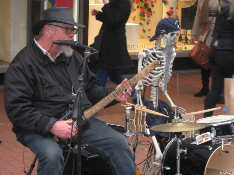 Rob Berry Blues. Busking in Reading.