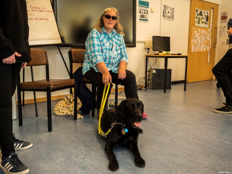 Guide Dog Meeting and Greeting: Doing a bit of PR.