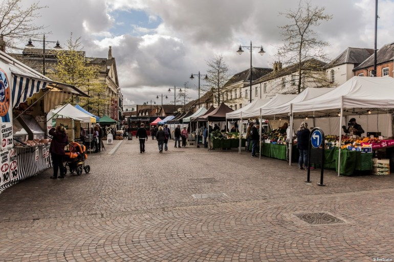 Newbury Market: A tradition going back many years.