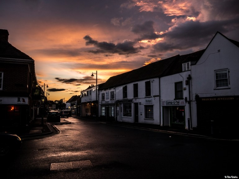 Stormy Sunset: Looking West Along High Street, Thatcham.