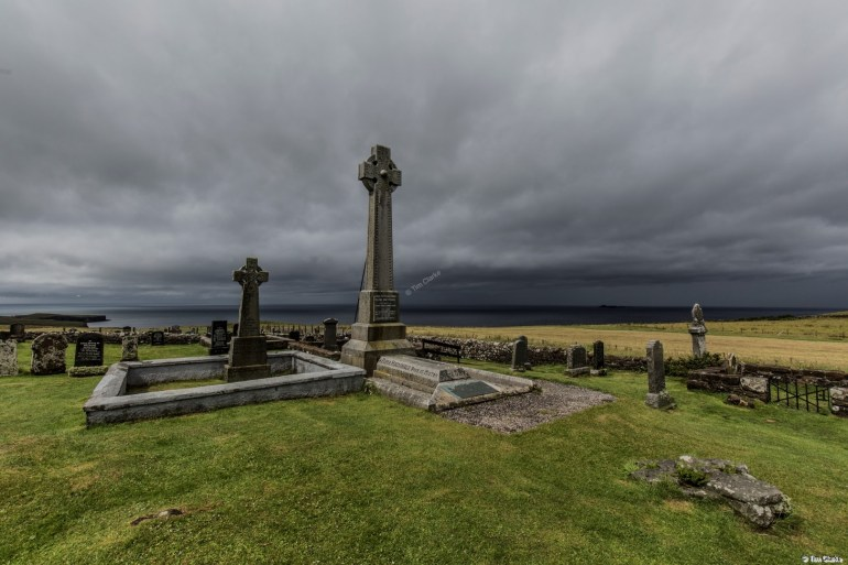 Flora MacDonald Monument: Looking over the sea from Skye.