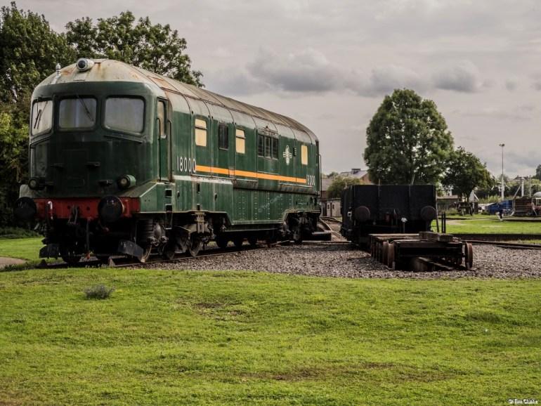 Brown Boveri Gas Turbine: Prototype Locomotive awaiting restoration.