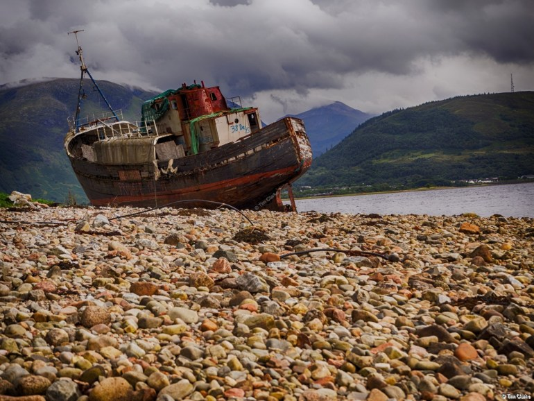Corpach Shipwreck: On the beach near Caol.
