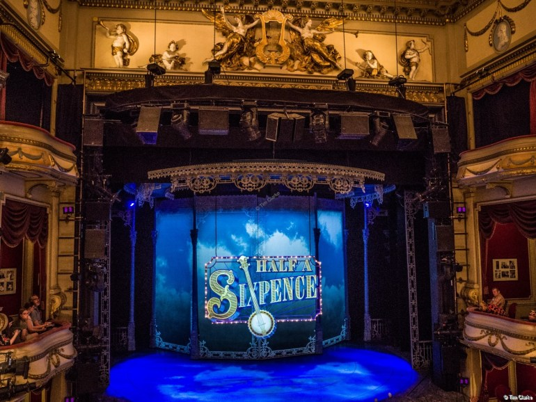 Half a Sixpence: View of the set from the Royal Circle.