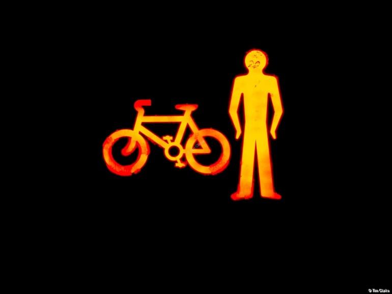Don't Cross: Red Light Spells Danger.