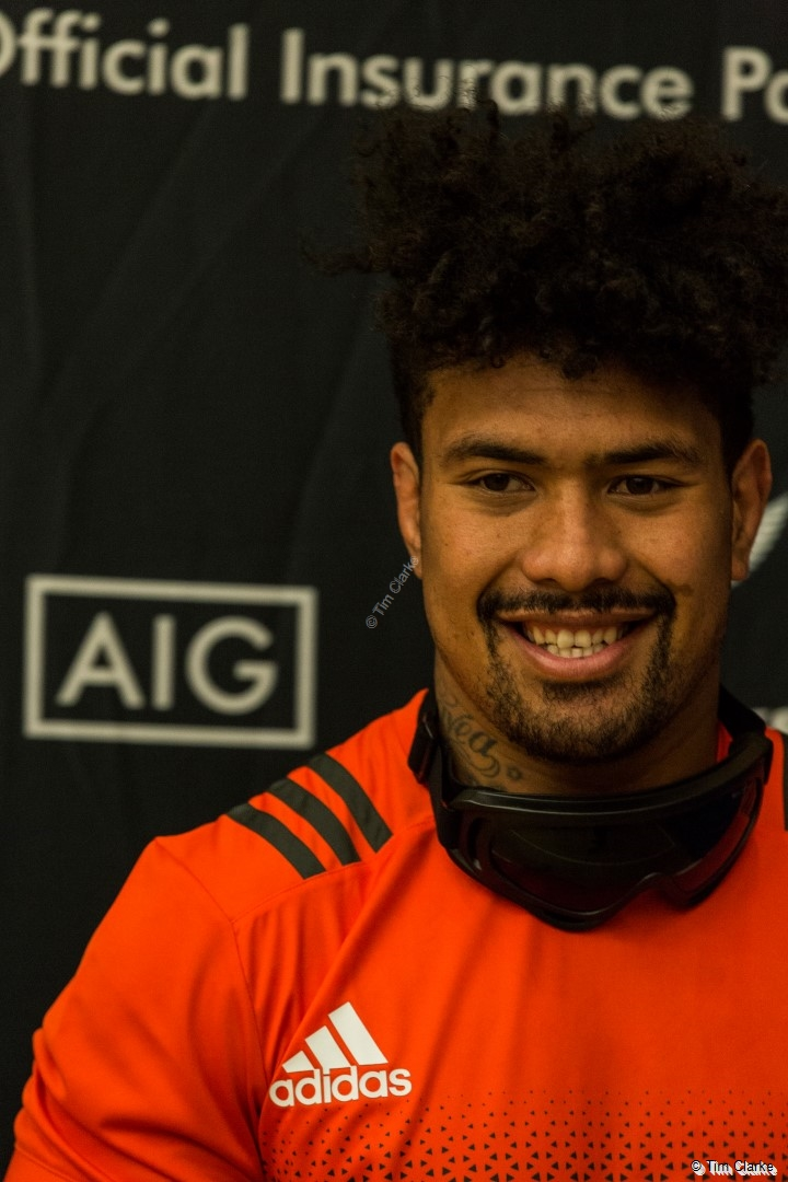 New Zealand All Blacks: Ardie Savea poses for the camera.