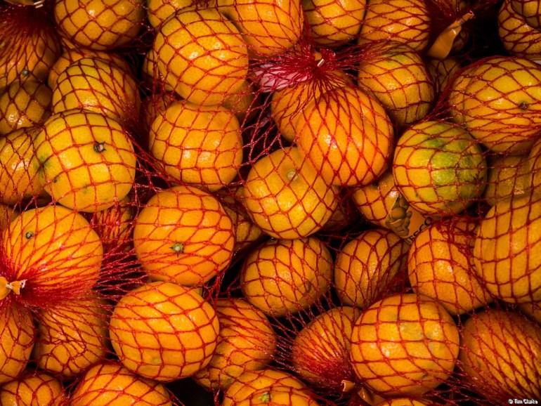 Oranges: A splash of colour.