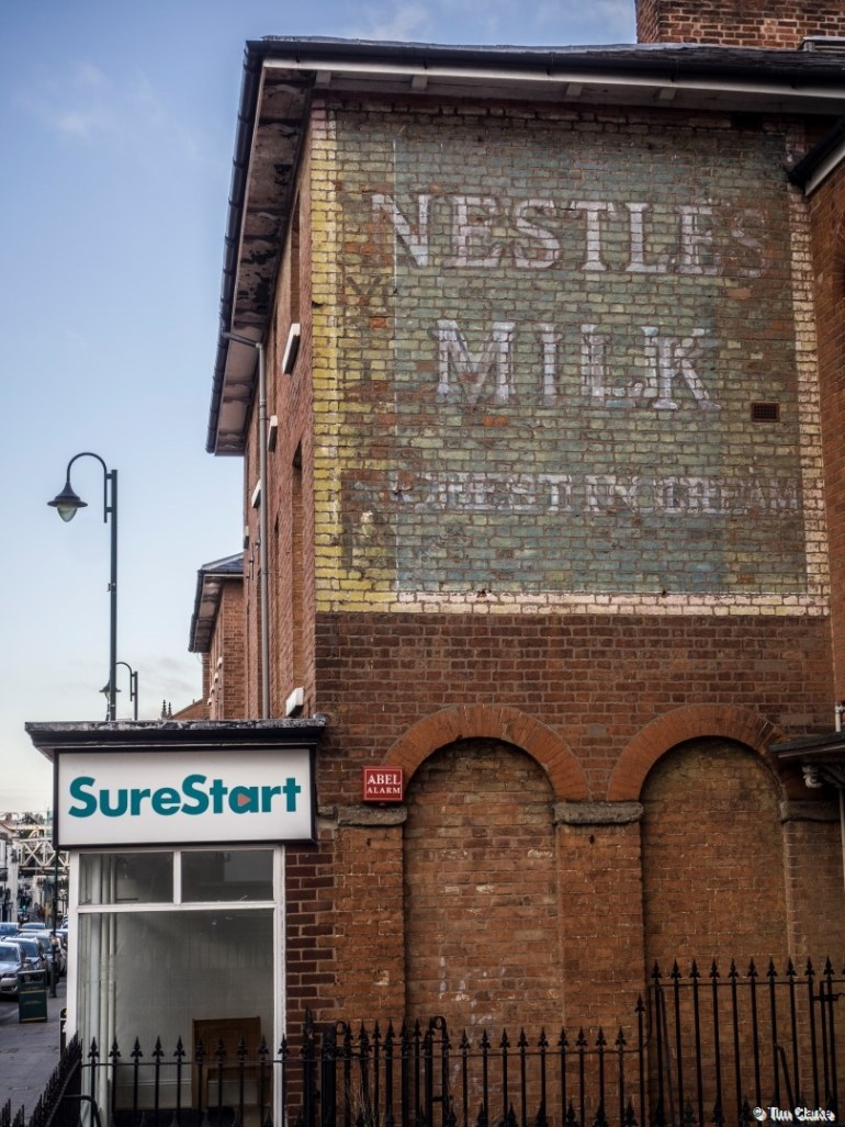 Nestles Ghost Sign, Leamington Spa: A good prominent example.