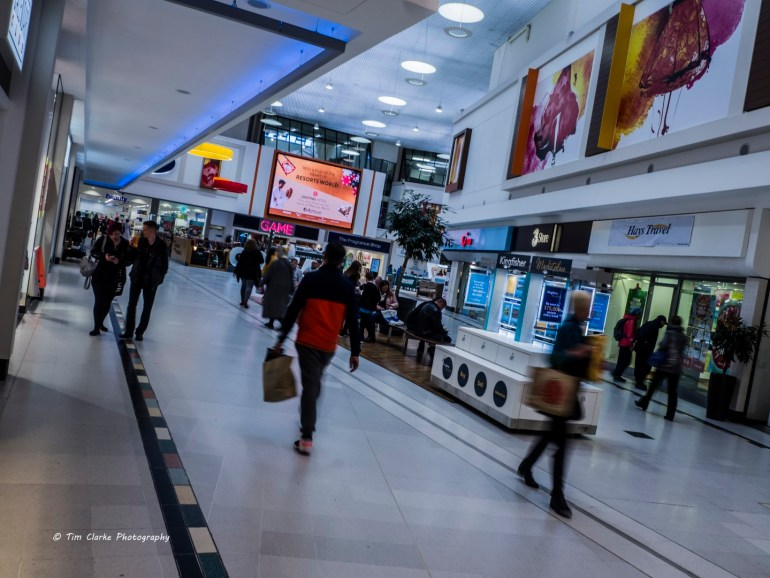 Shoppers in the Kingfisher Shopping Centre, Redditch