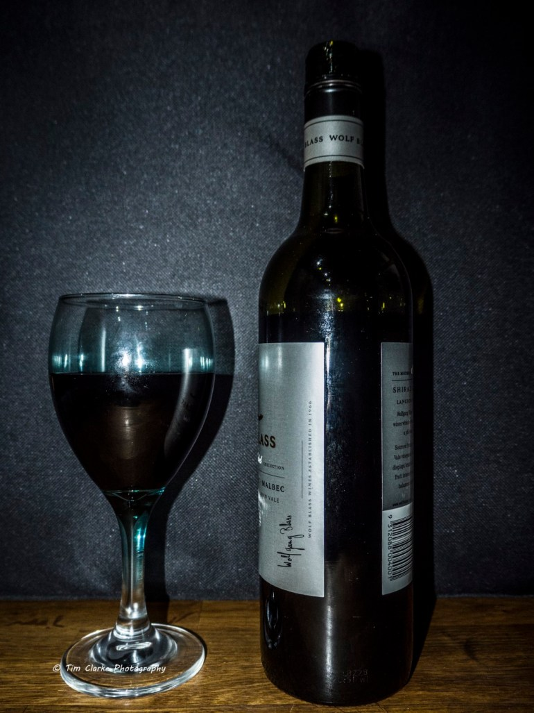 Glass and a Bottle of Red Wine.