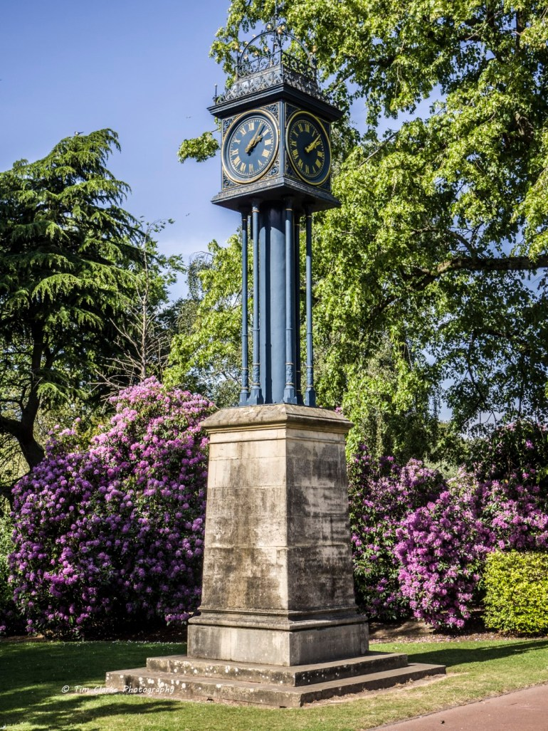 The Clock Tower in West Park Gardens, Wolverhampton.