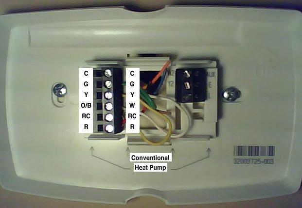 Honeywell Thermostat Wiring Terminals