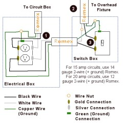 Wiring Diagram For Light Switch And Outlet In Same Box 7 Pin Rv Rewire A That Controls An To Control Overhead Or Fan - One Project Closer