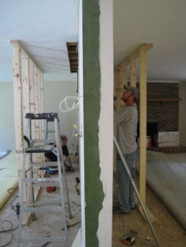removing part of a load bearing wall image via One Project Closer