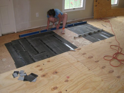 Floating Floor Over Particle Board