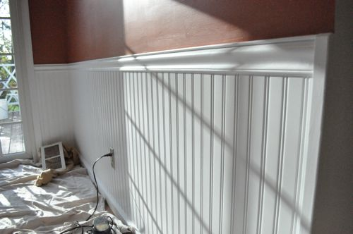 where to nail chair rail rocking camping how install beadboard wainscoting - one project closer