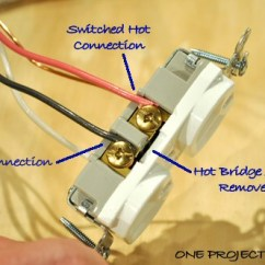 Wiring Diagram For Half Switched Outlet 1965 Chevelle Video: How To Wire A Half-switched - One Project Closer