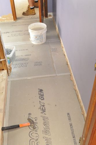 How To Install Cement Board Cbu For Floor Tile One