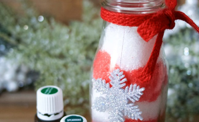 Homemade Holiday Candy Cane Bath Salts