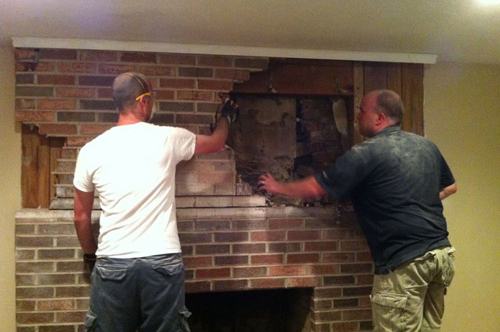BuiltIns and Fireplace Makeover  One Project Closer