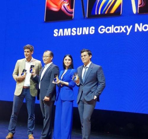 Samsung Galaxy Note9 Ambassadors Heart Evangelista, Erwan Heussaff, Nico Bolzico