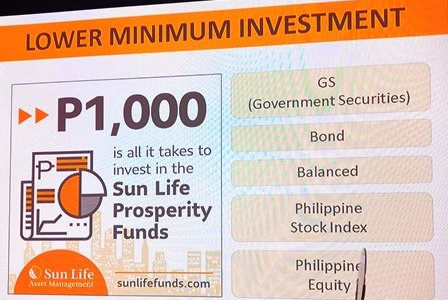 Sun Life: Your Php1,000 is All It Takes To Invest!