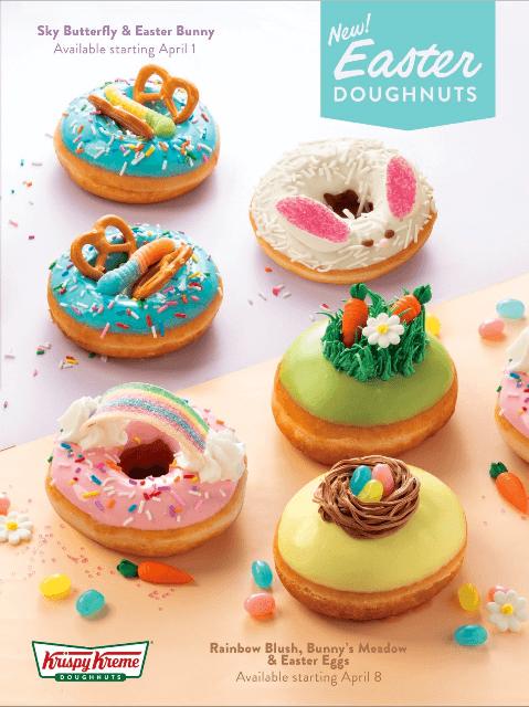 KRISPY KREME Pops of Pastel Easter Doughnuts