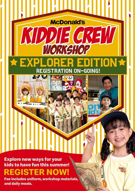 Summer Adventure with McDonald's Kiddie Crew Workshop: Explorer Edition