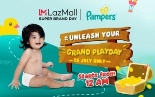 Lazada Super Brand Sale with Pampers