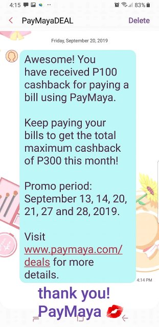 Paymaya Triple Bill Deal