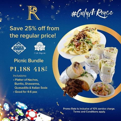 Royce Hotel and Casino Picnic Bundle