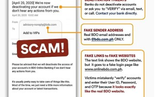 BDO Scam Beware of Fake Websites
