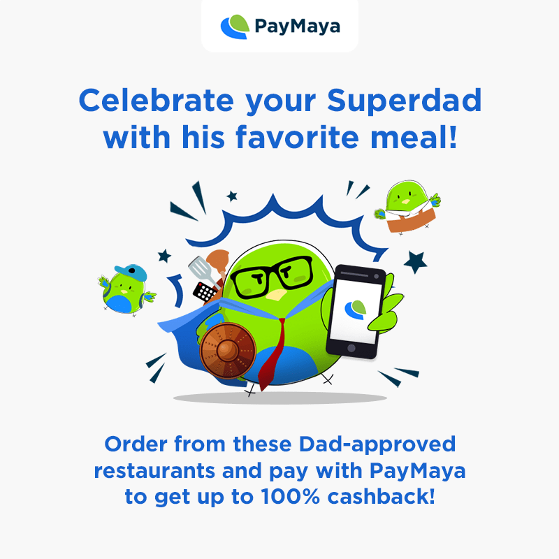 Father's Day Restos with PayMaya
