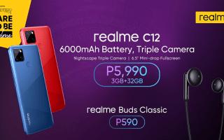 realme C12, realme Buds Classic