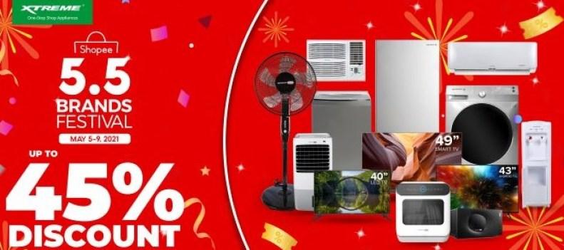 XTREME Appliances Shopee 5.5 Brands Festival Sale