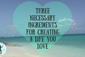 Three Necessary Ingredients For Creating A Life You Love