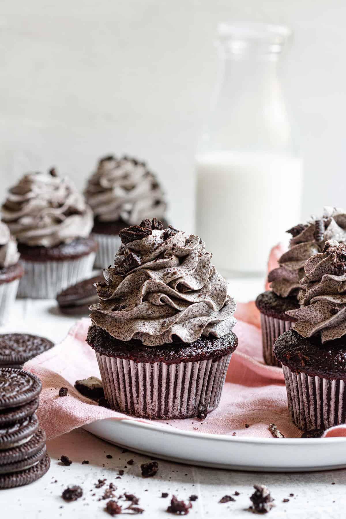 Chocolate Cupcakes with Oreo Buttercream
