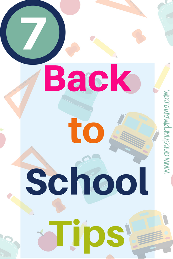 We have a list of back to school tips that are unique and some that are even from teachers themselves. Teachers share their tips to make returning to school a breeze. These back to school hacks will make your end of summer and beginning of school transition easier. 7 tips for returning to school straight from the teachers. #backtoschool #schooltips