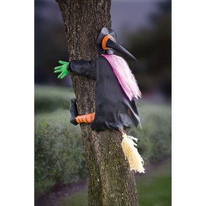witch decoration, witch ran into the tree, halloween decorations, the witch flew into the tree, witch tree halloween decor