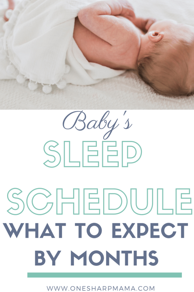 What to expect during your child's first year of life- sleep schedule. How often should your child sleep? How many naps do babies take? When does baby sleep through the night? These are all things you can find out in this post about baby sleep schedules. #infant #newborn #baby #parenting #sleep #parentinghacks